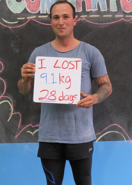 Lost 9.1kgs in 28 days
