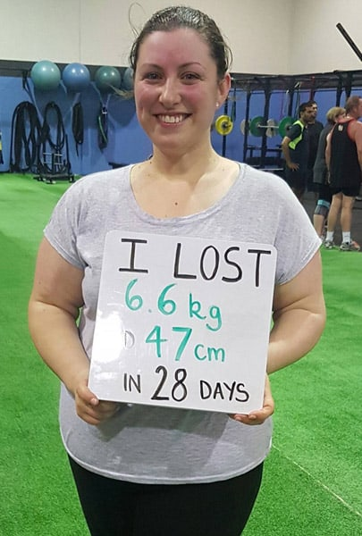 Maree lost 6.6kgs and 47cm in 28 days